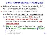 limit terminal reheat energy use