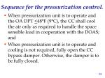 sequence for the pressurization control2