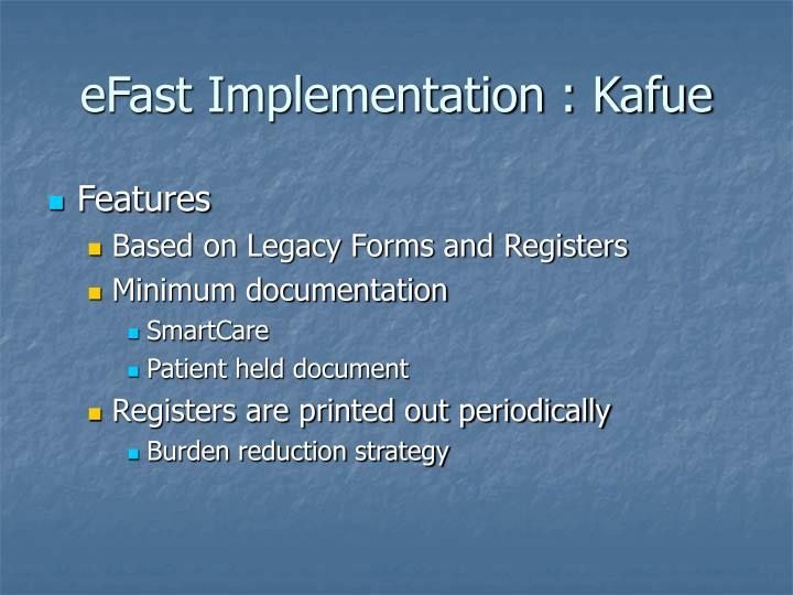 eFast Implementation : Kafue