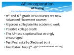 ap incorporation ap testing http professionals collegeboard com testing ap about dates