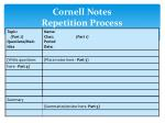 cornell notes repetition process