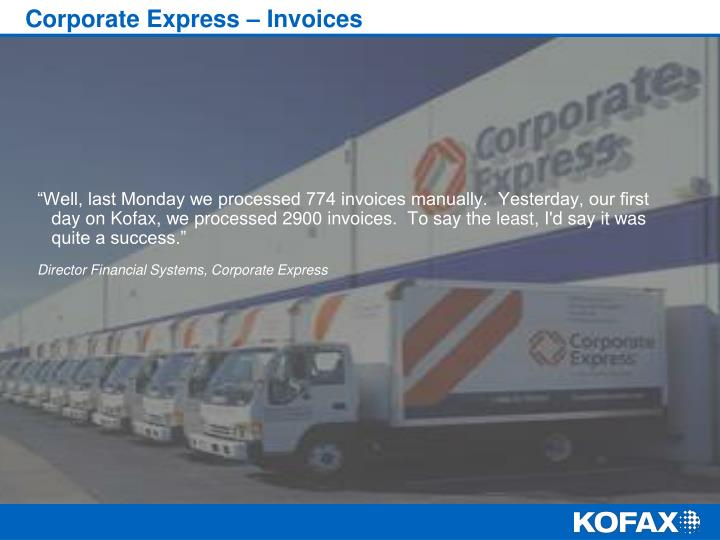 Corporate Express – Invoices