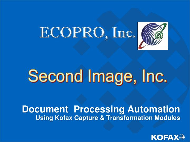 Document processing automation using kofax capture transformation modules