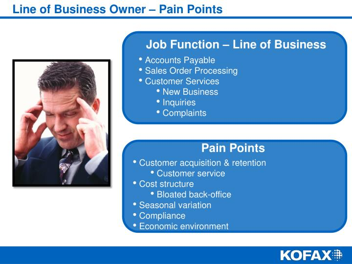 Line of Business Owner – Pain Points