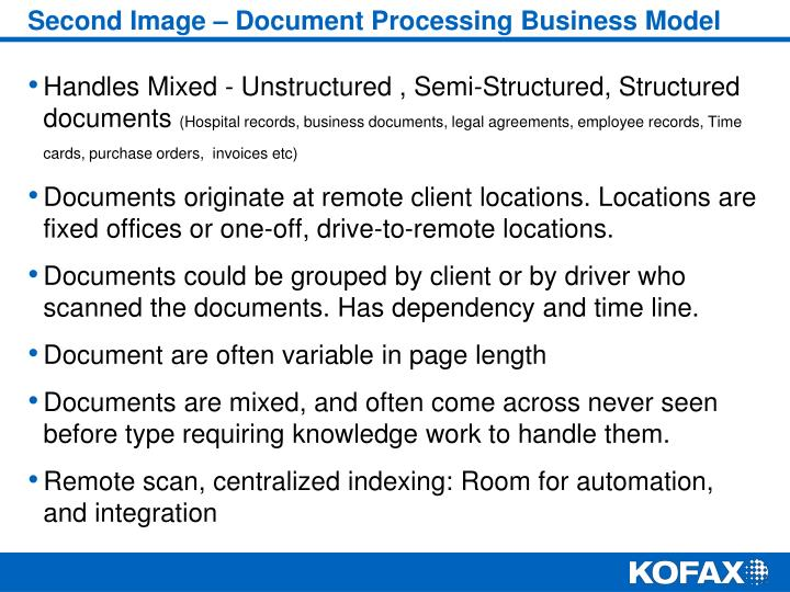 Second Image – Document Processing Business Model