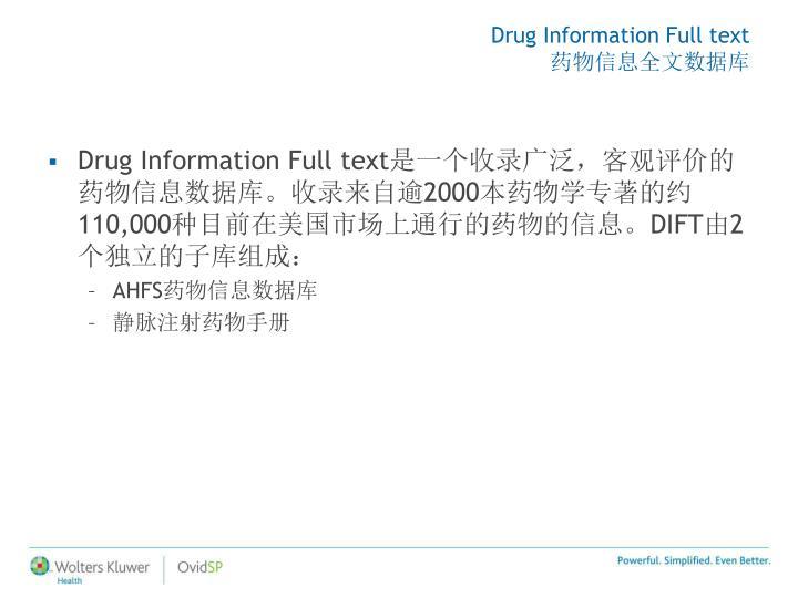 Drug Information Full text