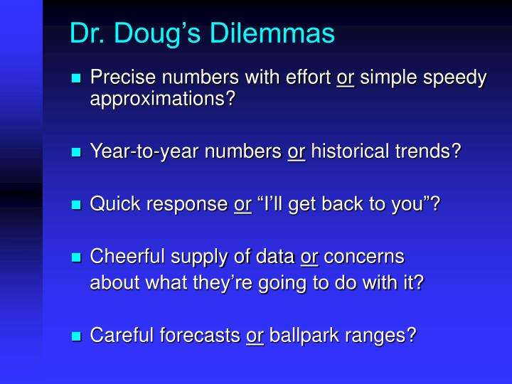 Dr. Doug's Dilemmas