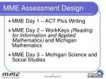 mme assessment design5