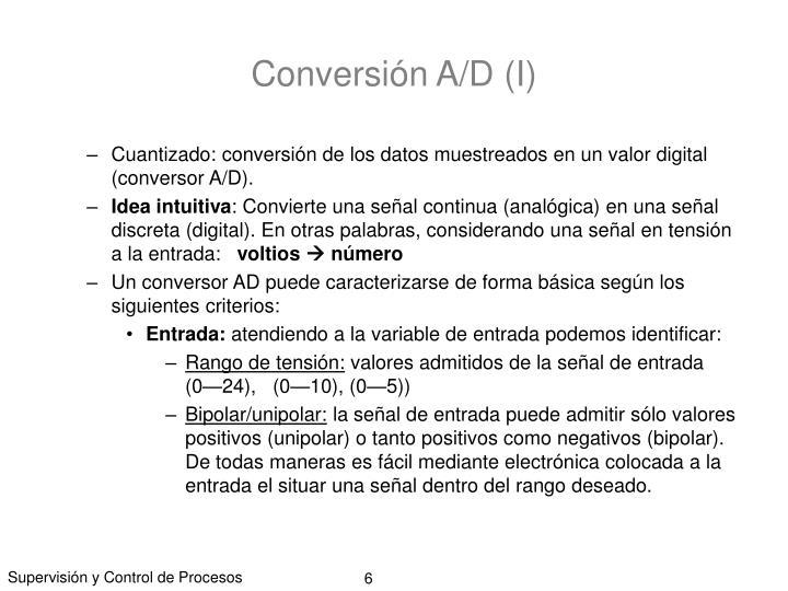 Conversión A/D (I)
