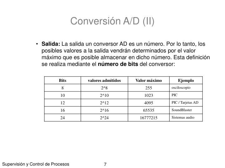 Conversión A/D (II)