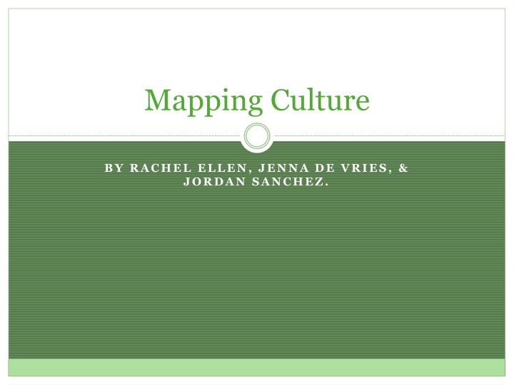 mapping culture n.
