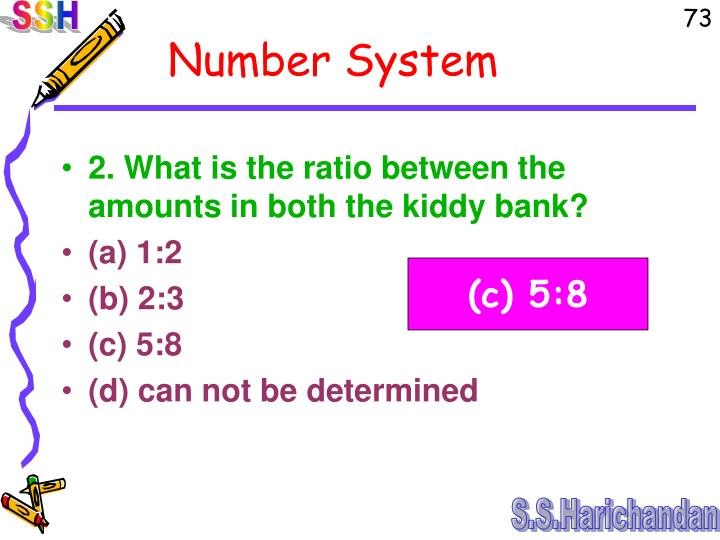 2. What is the ratio between the amounts in both the kiddy bank?