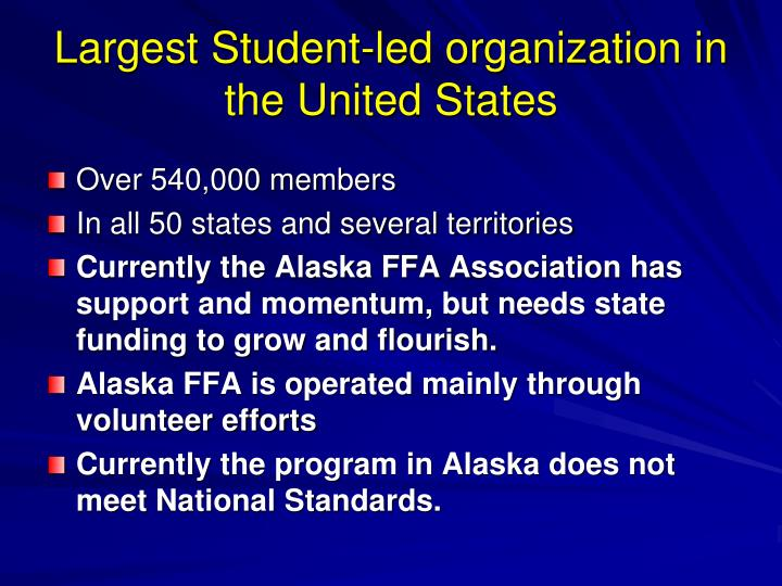 Largest Student-led organization in the United States
