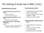 the making of treaty law in niac cont