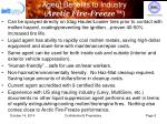 agent benefits to industry arctic fire freeze
