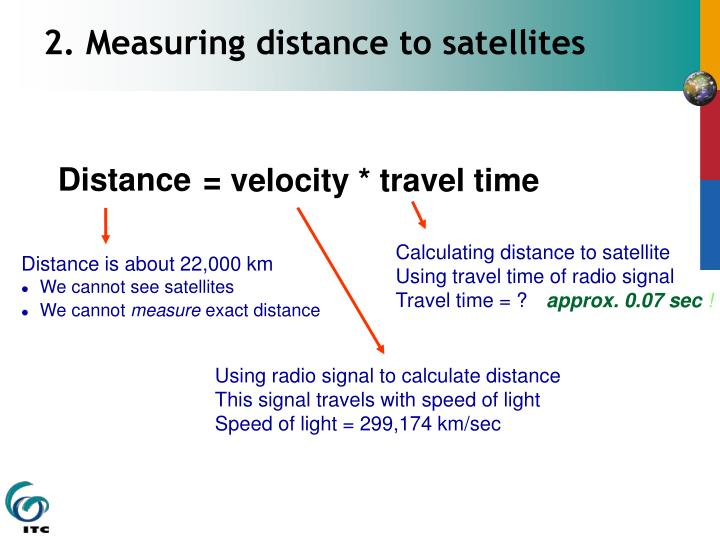 2. Measuring distance to satellites