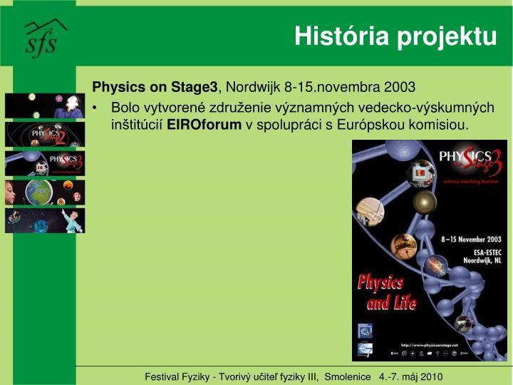 História projektu