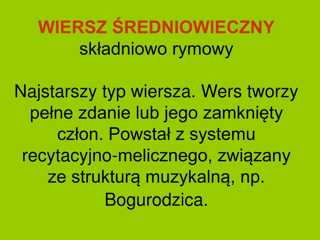 Ppt Systemy Wiersza Powerpoint Presentation Free Download