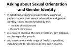 asking about sexual orientation and gender identity
