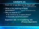 caveats ii