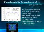 pseudorapidity dependence of v 2