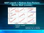 qgp liquid hadron gas picture works well contd