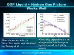 qgp liquid hadron gas picture works well