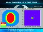time evolution of a qgp fluid