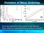 violation of mass ordering