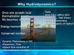 why hydrodynamics