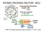 atomic packing factor bcc