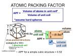 atomic packing factor1