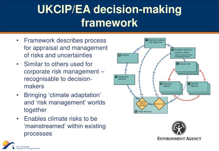 UKCIP/EA decision-making framework