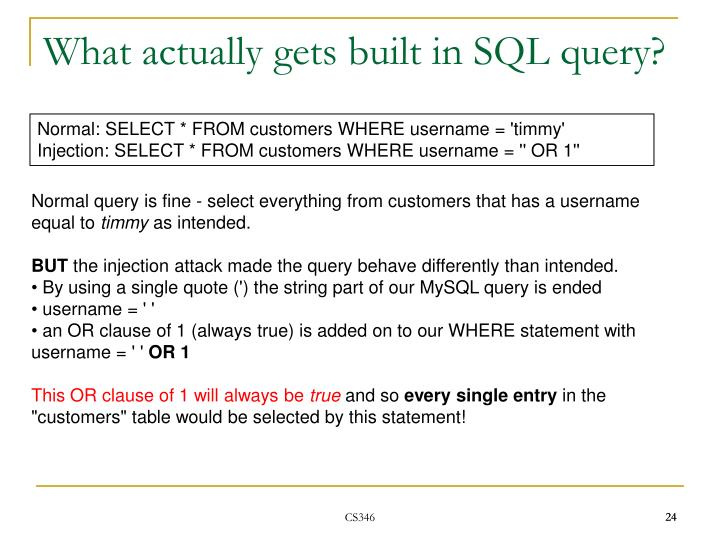 What actually gets built in SQL query?