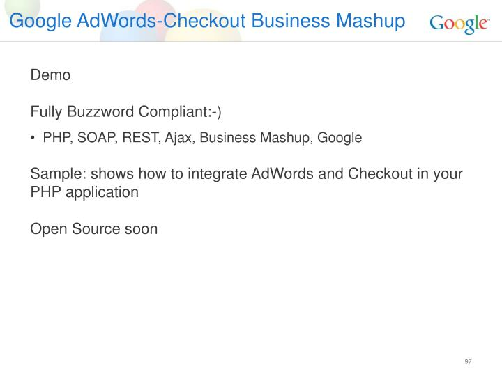 Google AdWords-Checkout Business Mashup