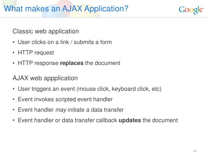 What makes an AJAX Application?