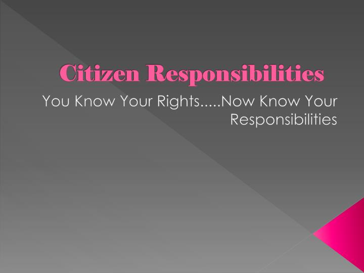 essay on responsibility discharged How can you define responsibility are you a responsible person what is your attitude towards irresponsible people can you remember some accidents that happened because of someone's irresponsibility.