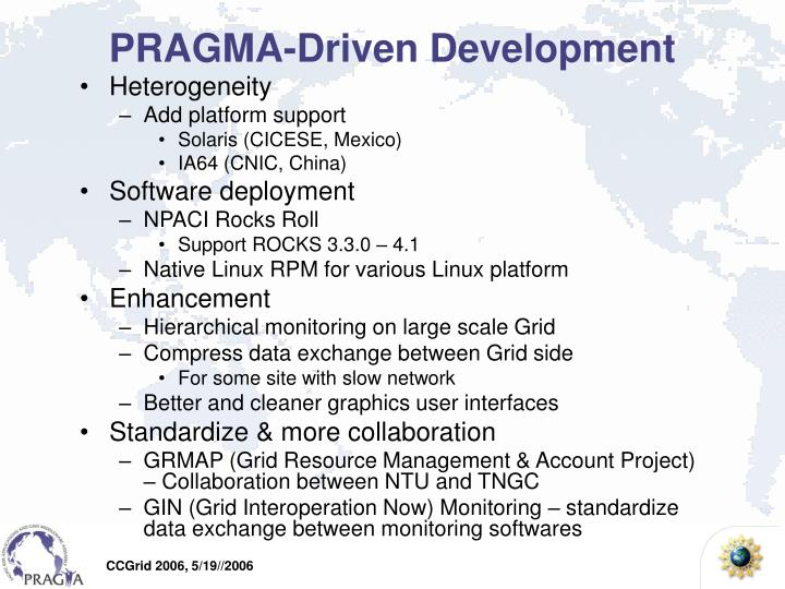 PRAGMA-Driven Development
