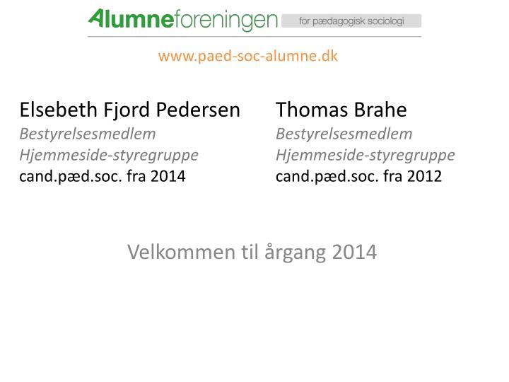 Elsebeth fjord pedersen bestyrelsesmedlem hjemmeside styregruppe cand p d soc fra 2014