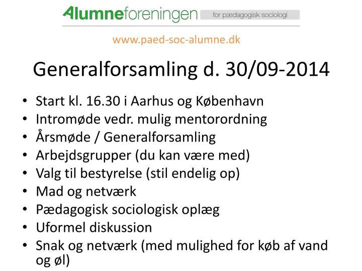 Generalforsamling d. 30/09-2014