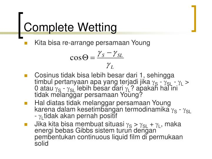 Complete Wetting