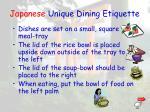 japanese unique dining etiquette