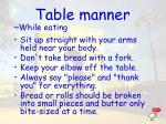 table manner1