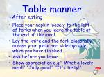 table manner2