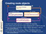 creating route objects1