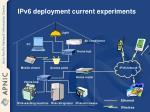 ipv6 deployment current experiments