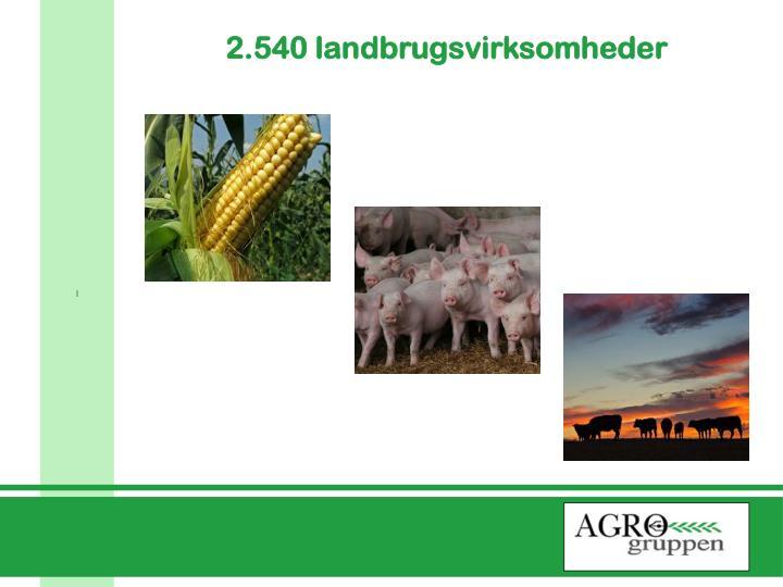 2.540 landbrugsvirksomheder