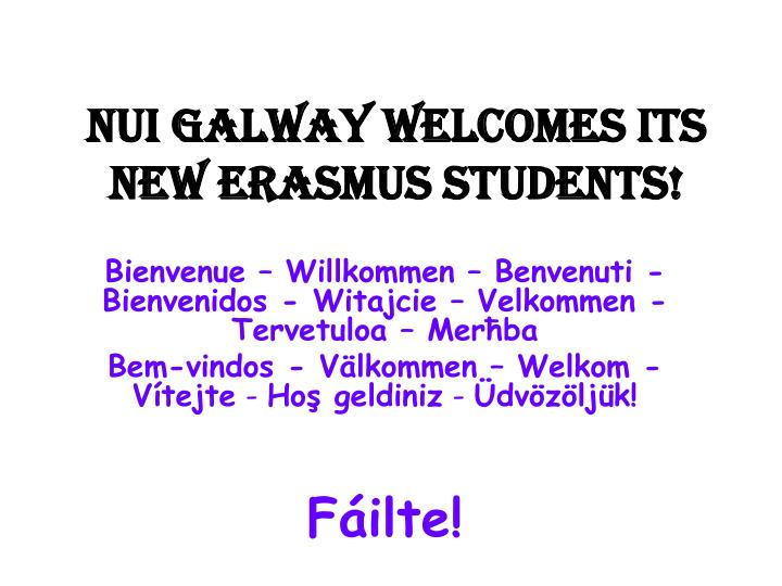 nui galway welcomes its new erasmus students n.