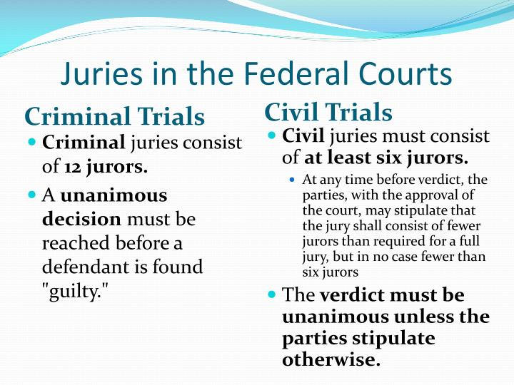 the role of the jury in There are a number of common generalizations about the respective roles of the  jury and judge at american trials one bromide is that the jury resolves.