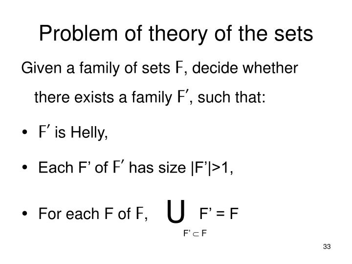 Problem of theory of the sets